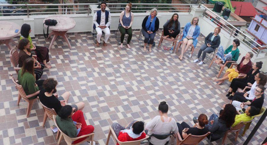 online meditation in Nepal