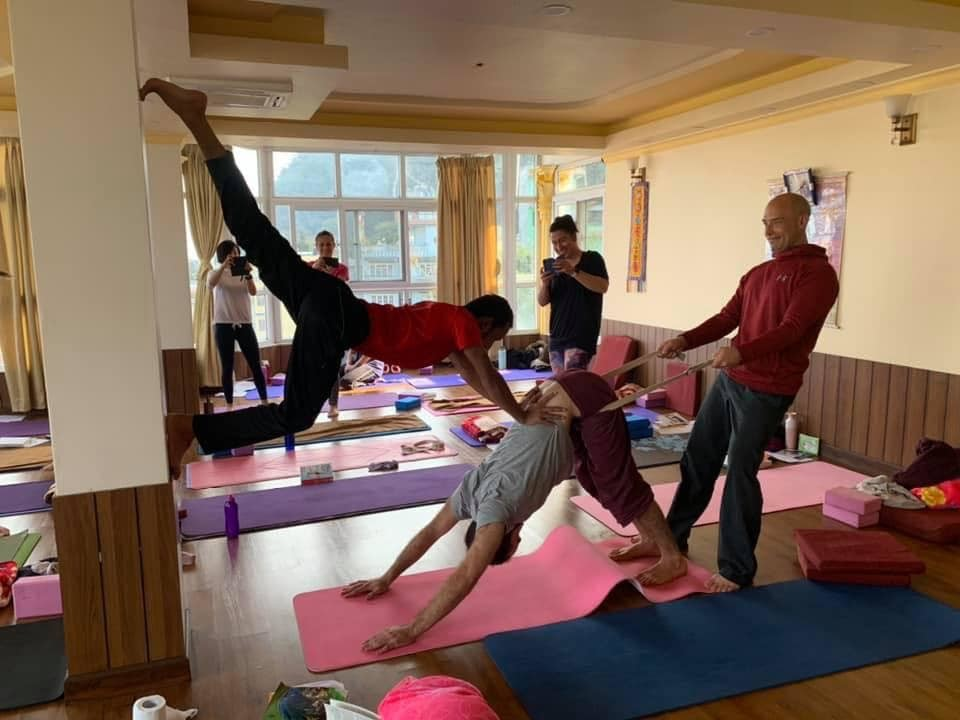 yoga retreat class in Nepal